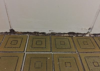 Effects of shower leak and water seepage - Before