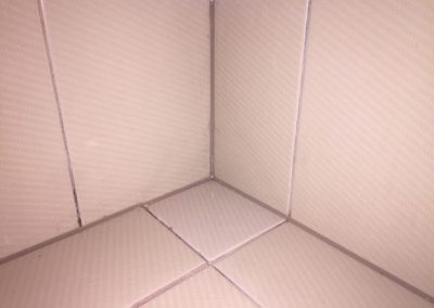 Bathroom tiles after the leak was repaired